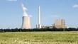 Kraftwerk und Kornfeld