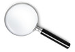 Leinwanddruck Bild - Magnifying glass - top view