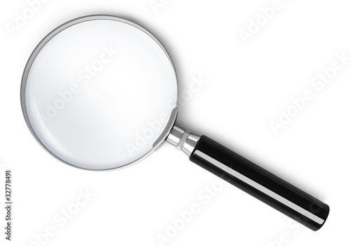 Leinwanddruck Bild Magnifying glass - top view