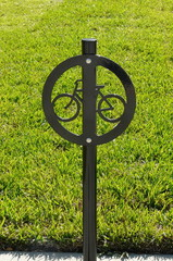 Iron Bicycle Sign
