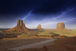 Storm over Monument Valley Rocks