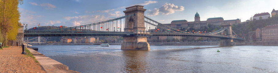 The Szechenyi Chain Bridge, Budapest