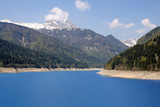 artificial lake in the mountains of Friuli poster