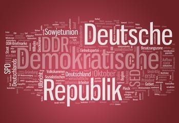 """Wortwolke """"Deutsche Demokratische Republik"""""""