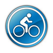 "Glossy Button ""Bicycle Symbol / Bicycle Trail"""