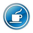 """Glossy Button """"Coffee Shop / Hot Beverage"""""""