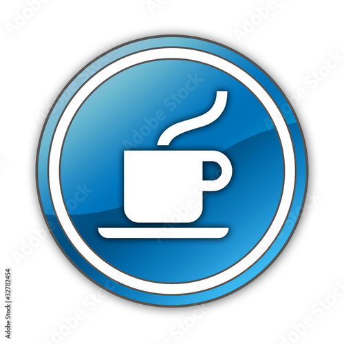 "Glossy Button ""Coffee Shop / Hot Beverage"""