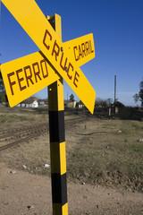 Señal de cruce de ferrocarril