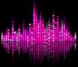 pink digital sound equalize isolated on black background