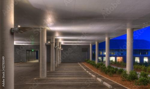 Empty Parking Garage in the Evening - 32783049