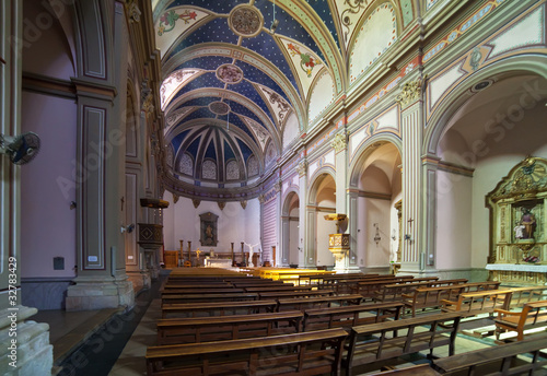 Interior of   catholic church  at Tossa de Mar