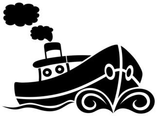 Barca Rimorchiatore-Boat Tug-Vector