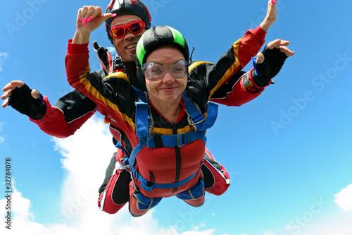 Leinwandbild Motiv Skydiving photo