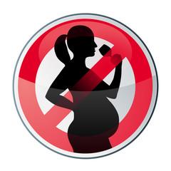 interdit aux femmes enceintes de boire de l'alcool