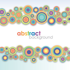 Vintage circles background # Vector