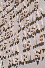 Close up of a memorial  Galipolli Campaign