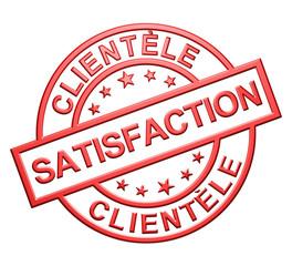 """""""Satisfaction Clientèle"""" (rouge)"""