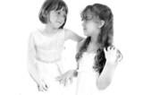 beautiful girls sharing love poster