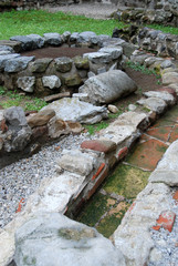 Roman fountain and sewer system