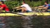 Coxed four rowing