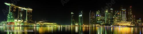 Plexiglas Singapore skyline Singapour