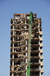Demolishing highrise building