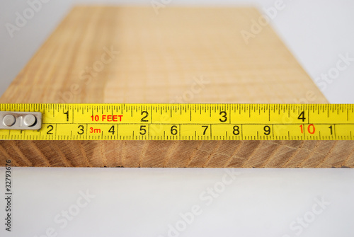 Measuring the width of a plank of wood