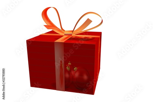 Leinwandbild Motiv Weihnachtsgeschenk