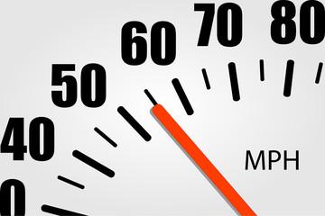 Speedometer Closeup Illustration