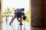 Fototapety latin american man and woman dancing