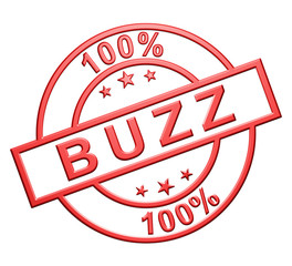 """100% Buzz"" Red Icon"