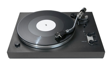 Turntable with a record