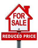 Home sale reduced price sign poster