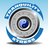 Combination lock for stress and tranquility poster