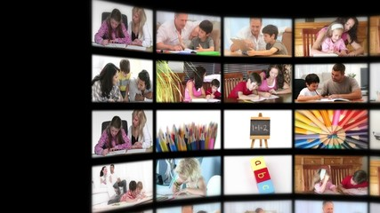 Montage illustrating the educational system
