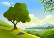 Magnificent Country Side  And a Lonely Tree By Lake
