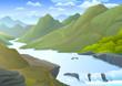 BEAUTIFUL HIMALAYAN  MOUNTAIN SIDE RIVER