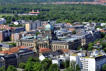 Leipzig Luftbild Reichsgericht Bundesverwaltungsgericht