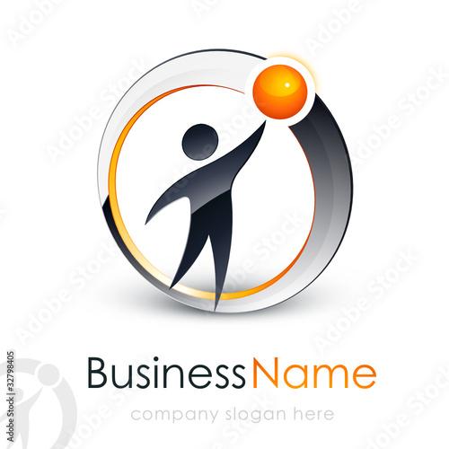 Logo entreprise homme 3D