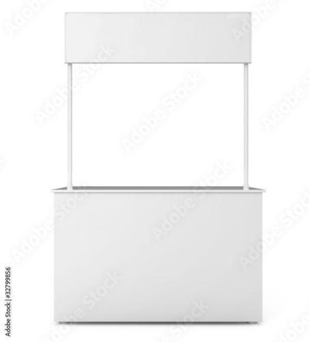 Blank Exhibition Stand isolated on white