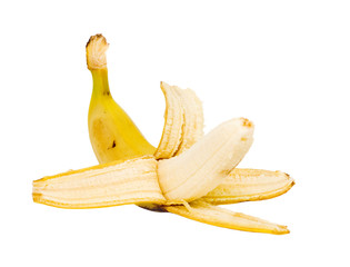peeled banana isolated