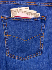 Jeans back pocket
