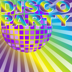 Retro Disco Party Background