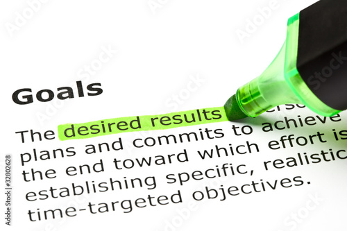 'Desired results', under 'Goals'