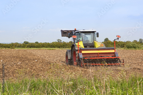 harrowing a field