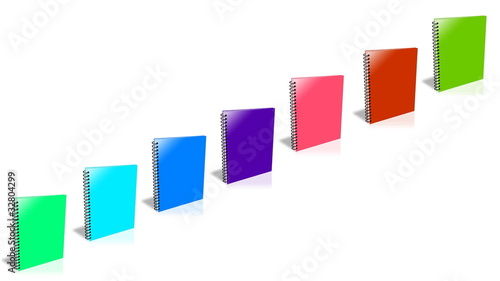 Conceptual video choose color of the Binder. ENDLESS LOOP