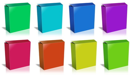 Conceptual video choose color of the Box. ENDLESS LOOP