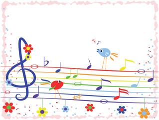 Music background-frame