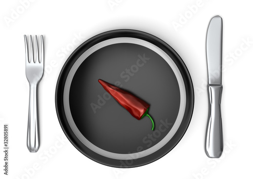 Pepper on plate