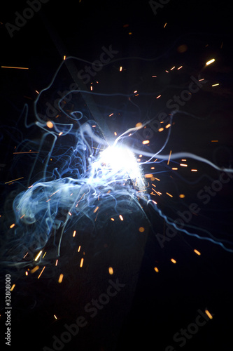 Welding metal process smoke